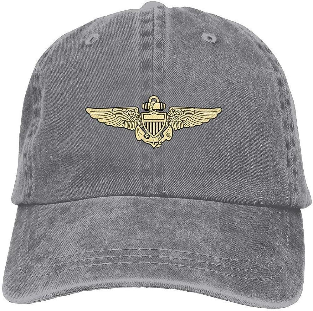 Naval Aviation Insignia Unisex Retro Adjustable Gym Cap Trucker Hat