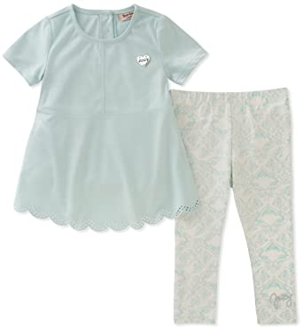 e6cb4edaaf86 Amazon.com  Juicy Couture Girls  Fashion Top and Legging Set  Clothing