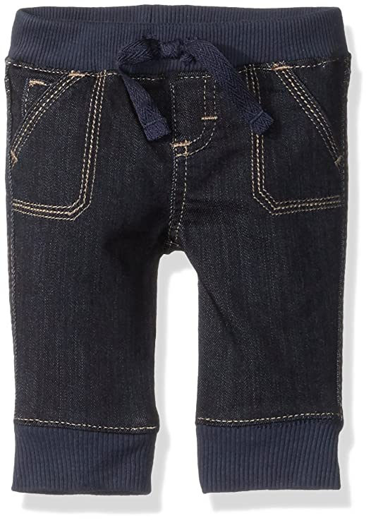 Wrangler Authentics Boys' Jogger Jean, Dark Alloy, 0-3M best baby jeans