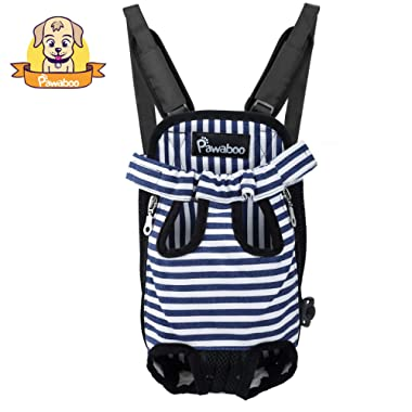 PAWABOO Pet Carrier Backpack, Adjustable Pet Front Cat Dog Carrier Backpack Travel Bag, Legs Out, Easy-Fit for Traveling Hiking Camping.
