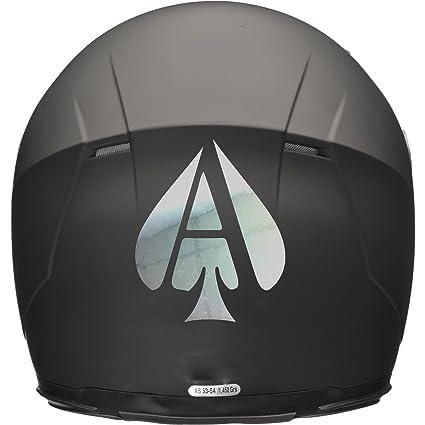 ACE OF SPADES Casco de Moto Coche Adhesivo 100 mm x 120 mm – Espejo Plata
