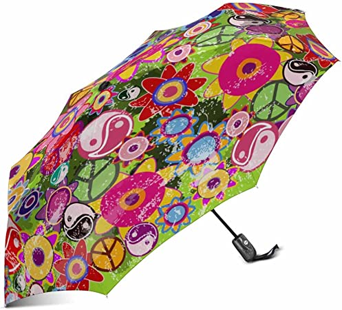 colorful Print Windproof Automatic Umbrella Auto Open /& Close Folding Umbrella