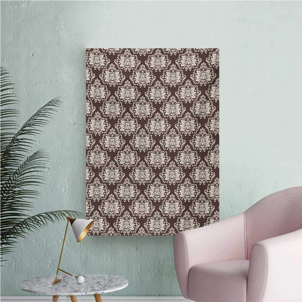 Amazon Com Anzhutwelve Damask Wallpaper Victorian Floral Pattern