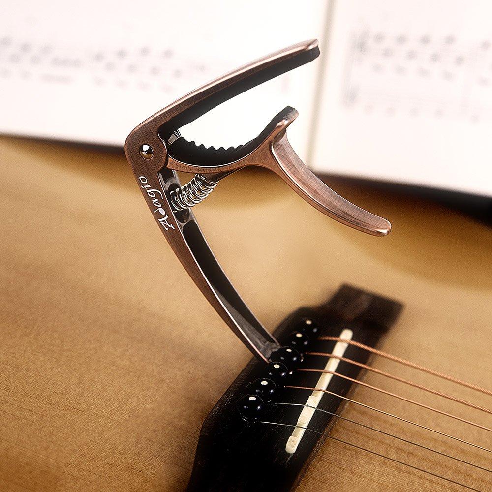 Adagio Pro Deluxe - Cejilla para guitarras acústicas y eléctricas con liberación rápida