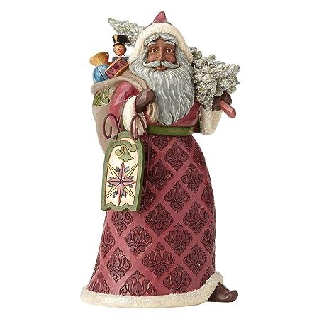 Enesco Jim Shore Heartwood Creek Victorian Santa with Toy Bag