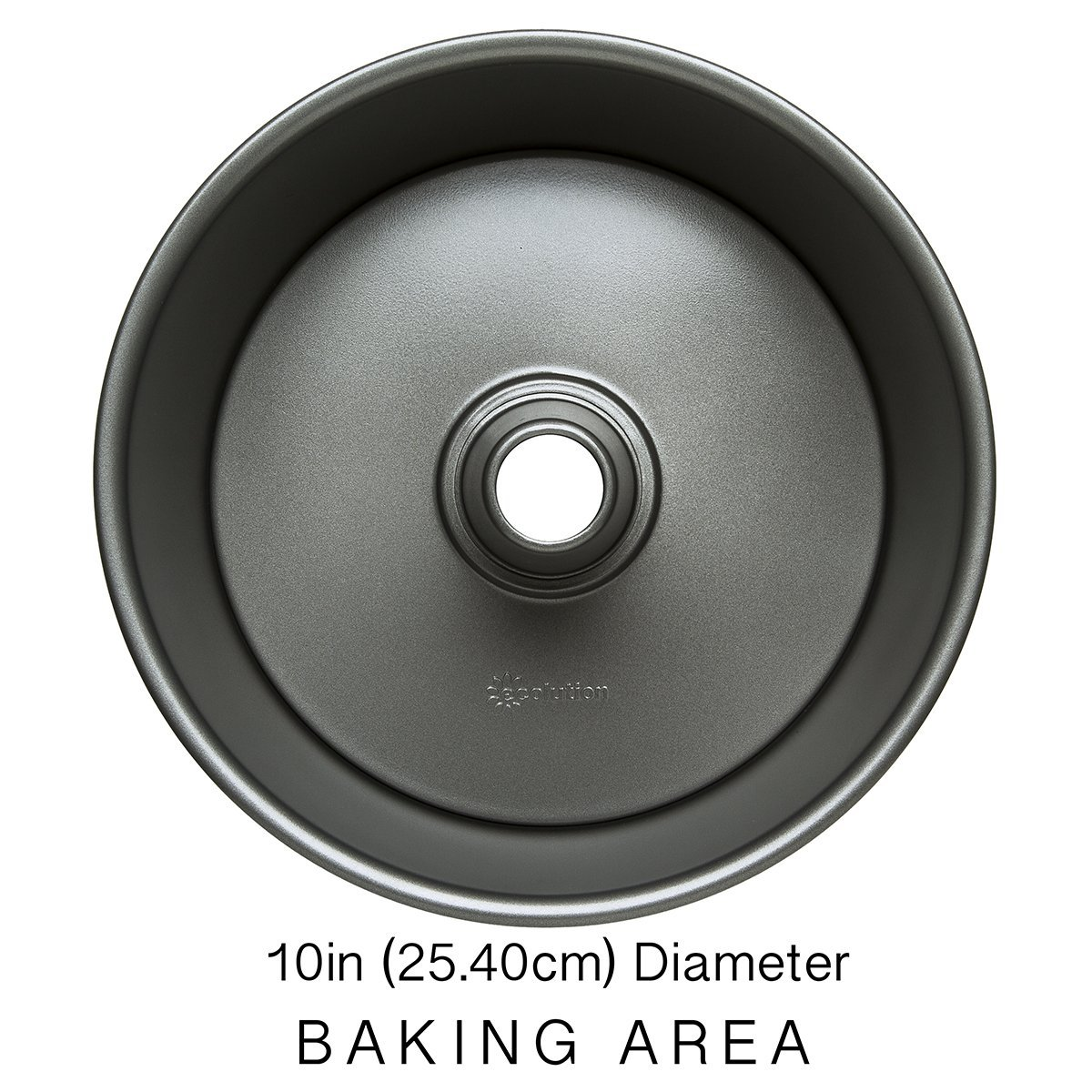 """Ecolution Bakeins Angel Food Cake Pan – PFOA, BPA, and PTFE Free Non-Stick Coating – Heavy Duty Carbon Steel – Dishwasher Safe – Gray – 9.5"""" x 9.5"""" x 4.125"""" by Ecolution (Image #3)"""