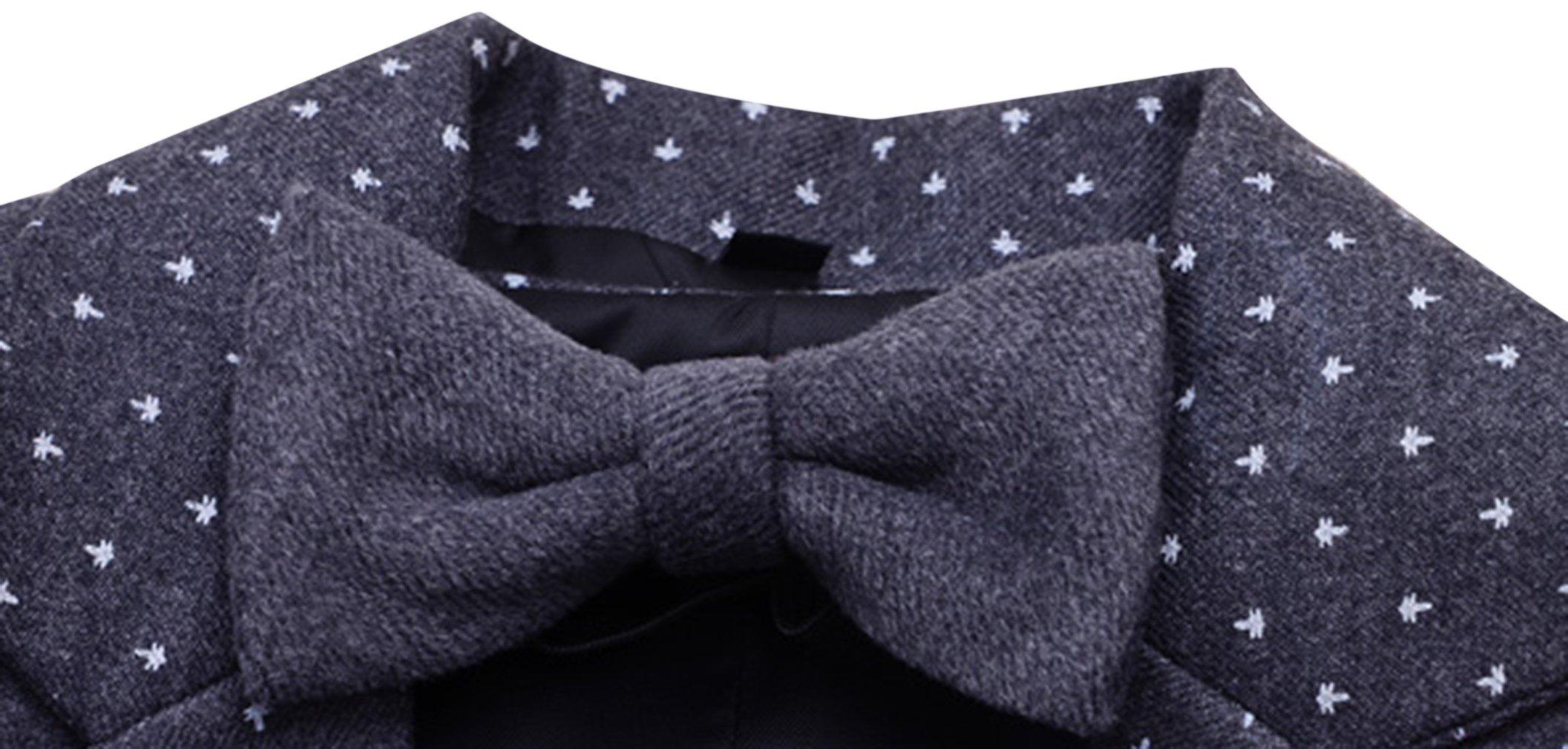 La Vogue Boys Formal 5 Piece Dress Suit Jacket Vest Shirt Pant and Bow S7 by La Vogue (Image #5)