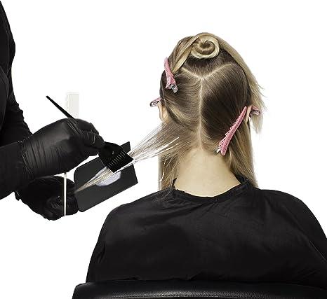 Segbeauty® Destacando la Paleta con 2 Tintes para Cabello Cepillo Tinte, Negro Tabla de Color de Pelo para Balayage Reflejos, Cepillo de Tintura ...