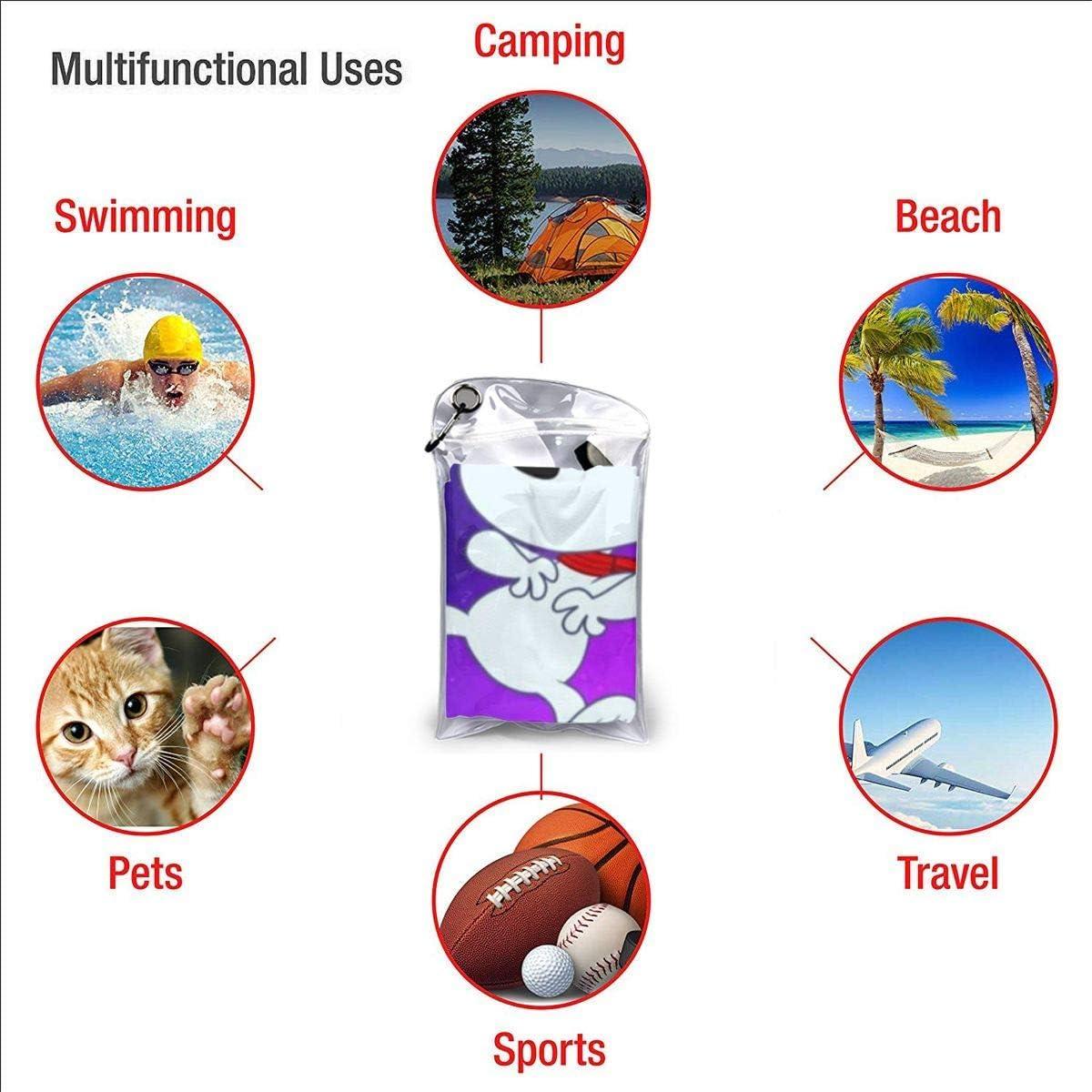 Mikrofaser Flauschiges Strandtuch Kann als Yoga-Ausflug Camping Gym Strandfahrrad Handtuch Strandstuhl Wolle Schnelltrocknende Handt/ücher verwendet werden Snoopy in Space Schnelltrocknendes Badetuch