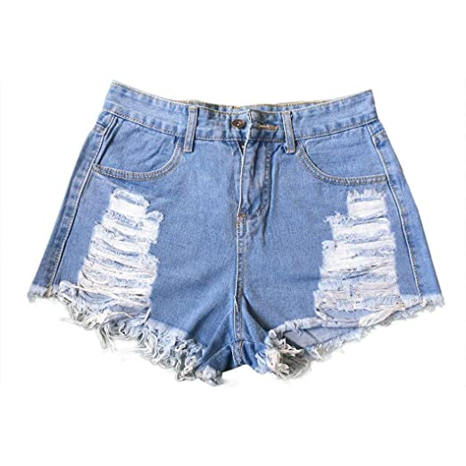 78cf54c3fba4b WuyiM® Women Denim Shorts, Ladies Sexy Summer Ripped High Waisted Denim  Shorts Jeans Hot Beach Pants at Amazon Women's Clothing store: