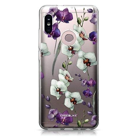 CASEiLIKE® Funda Redmi Note 5 Pro, Carcasa Xiaomi Redmi Note 5 Pro, Orquídea 2279, TPU Gel Silicone Protectora Cover