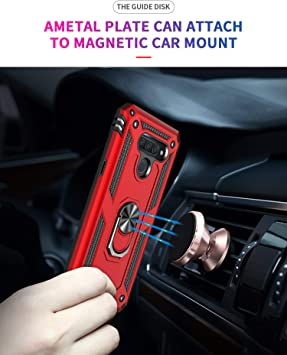 Note 9 Pro TANYO Case for Xiaomi Redmi Note 9S TPU//PC Shockproof Phone Cover with 360/° Kickstand Armor Bumper Protective Shell Red