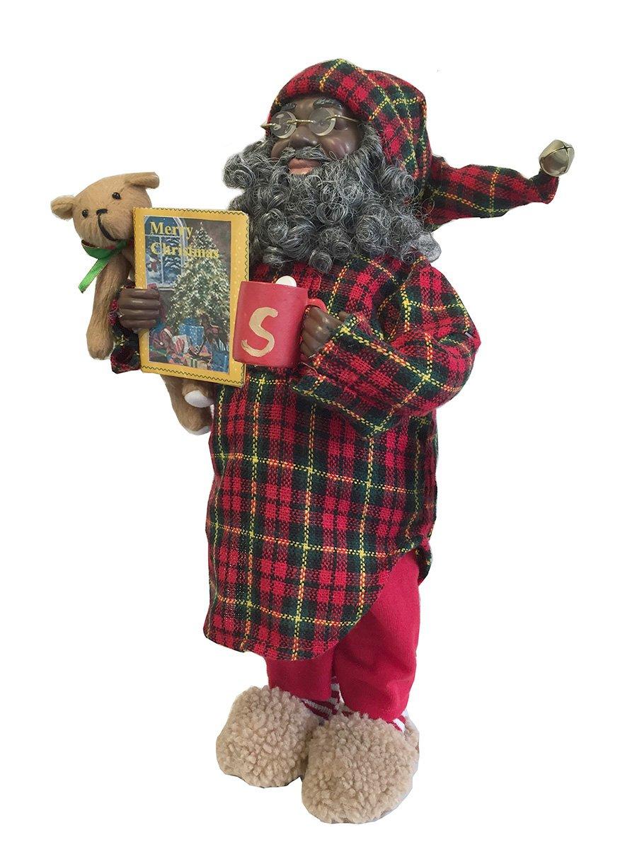 Santa's Workshop African-American Pajama Claus Figurine, 15