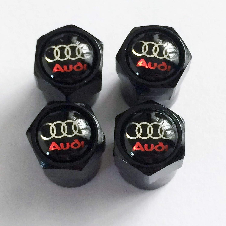 RacePace Lot de 4 Bouchons Anti-poussi/ère pour Valve Noirs A1 A3 A4 A5 A6 TT Quattro Q2 Q3 Q5 Q7.