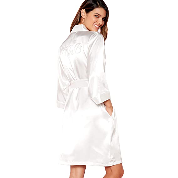 Debenhams The Collection Womens Ivory  Mrs B  Satin Dressing Gown ... 922291f23