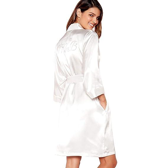Debenhams The Collection Womens Ivory  Mrs B  Satin Dressing Gown ... 7522b4b1e