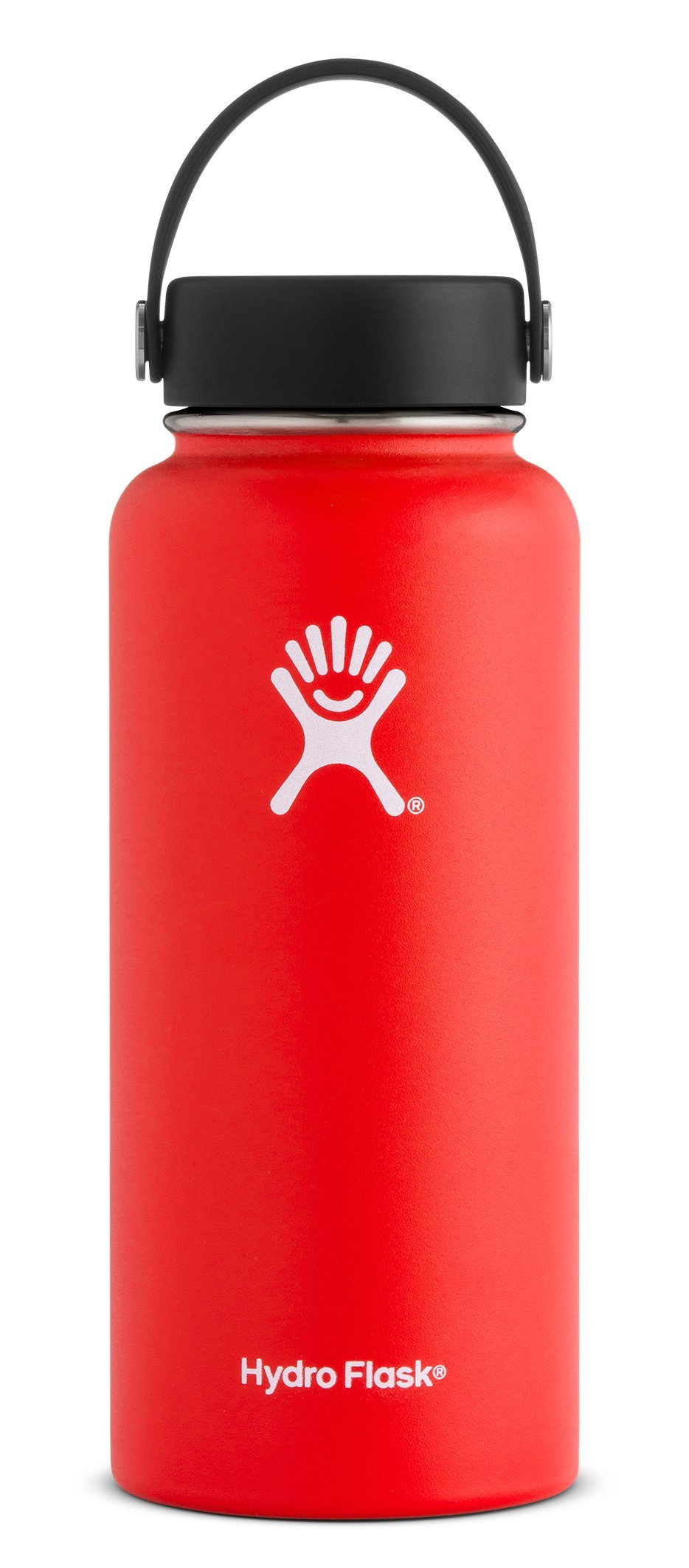 Hydro Flask 32 oz Double Wall Vacuum Insulated Stainless Steel Leak Proof Sports Water Bottle, Wide Mouth with BPA Free Flex Cap, Lava