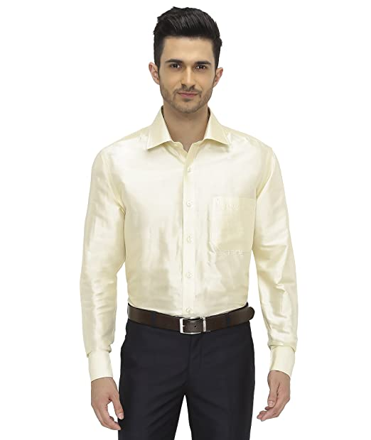 8aa288e6bee29 Khoday Williams Mens Full Sleeve Shirt - 100% Silk Dupion Material - Shirt  Collar -