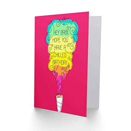Amazon Com Wee Blue Coo Card Birthday Happy Fun Psychedelic Weed
