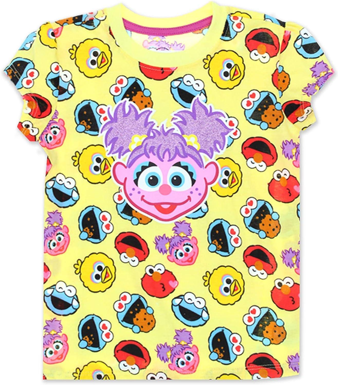 Sesame Street Elmo Girls Short Sleeve Tee (Baby/Toddler): Clothing