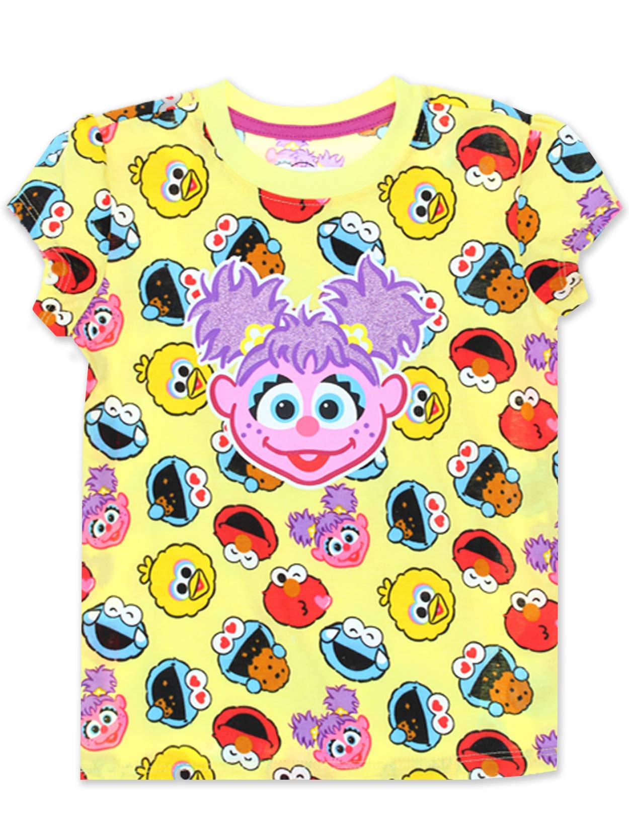 Sesame Street Abby Cadabby Toddler Baby Girls Short Sleeve Tee (3T, Yellow/Multi) by Sesame Street