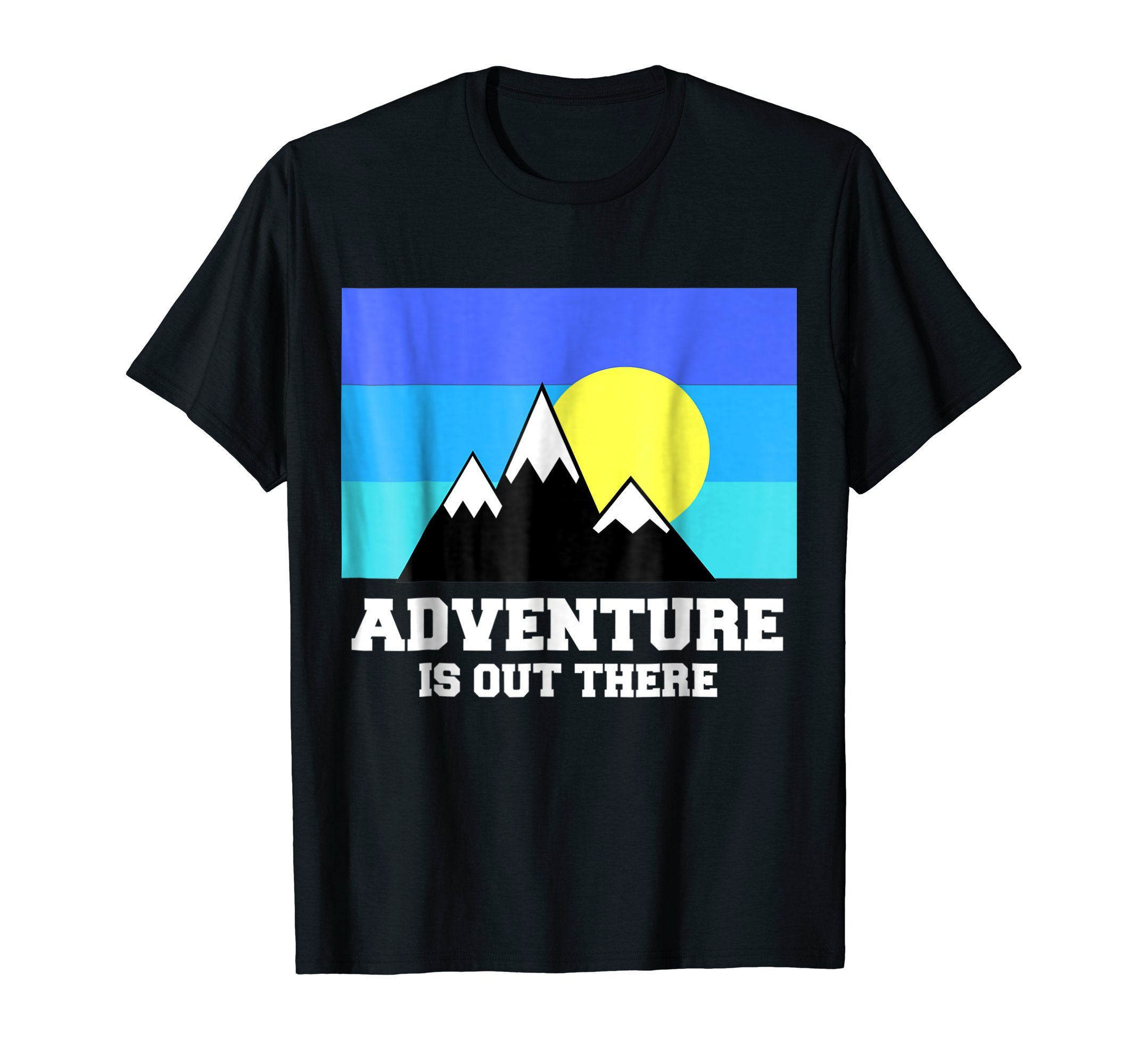 Adventure is out there t shirt | Travel Backpacker T shirt by Journey Adventurer T shirt (Image #1)