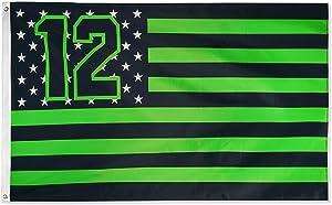 DANF Seattle Fan Flag 3x5 Feet Seahawks Star and Stripes Outdoor Flag