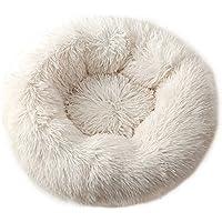 Almohadillas para perros   Cama redonda larga de felpa para gato o perro, ideal para invierno, cálida, para dormir…