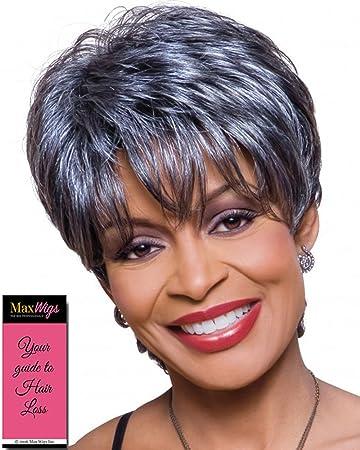 Amazon Com Kathy Wig Color 3t34 Foxy Silver Wigs Short Textured
