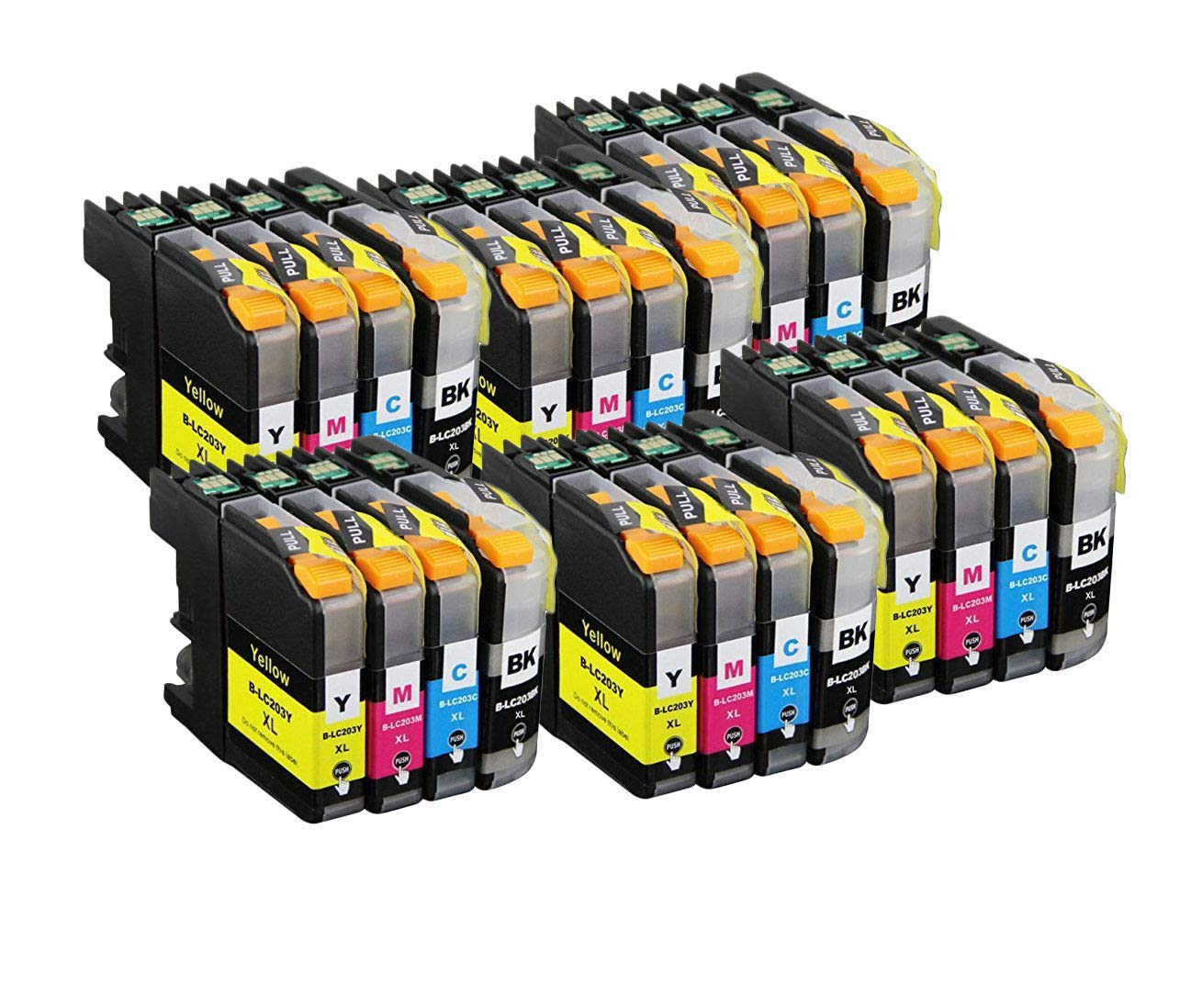 Zulu Inks 24 PK Compatible Brother LC203 For Use with Brother MFC-J4320DW MFC-J4420DW MFC-J460DW MFC-J4620DW MFC-J480DW MFC-J485DW MFC-J5520DW MFC-J5620DW MFC-J5720DW MFC-J680DW MFC-J880DW MFC-J885DW