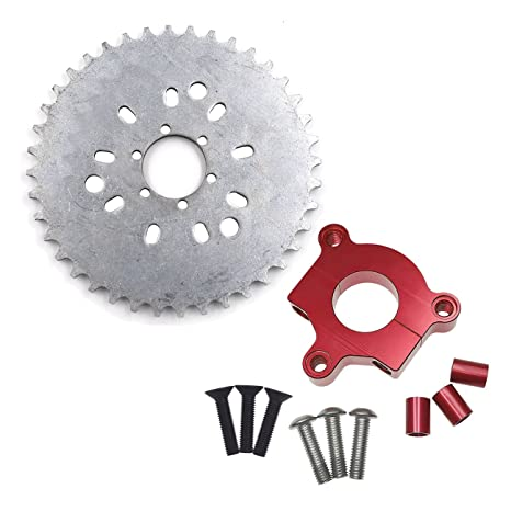 """415 Chain Sprocket 1.5/"""" 38T Red CNC Adapter Motorized Bicycle 60cc 80cc Engine"""