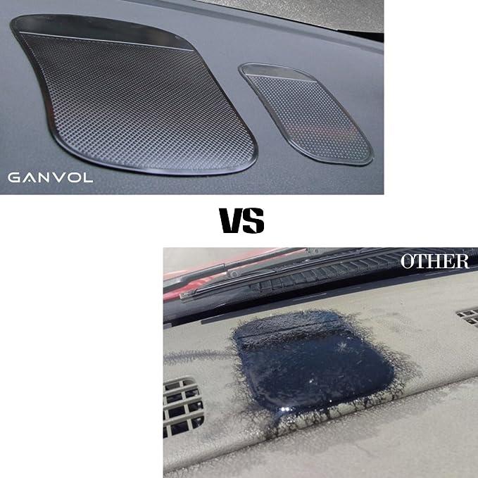 Ganvol (2 unidades) antideslizante coche almohadillas adhesivas, resistente al calor antideslizante alfombrillas, salpicadero soporte (13,5 cm x 7 cm)-sin ...