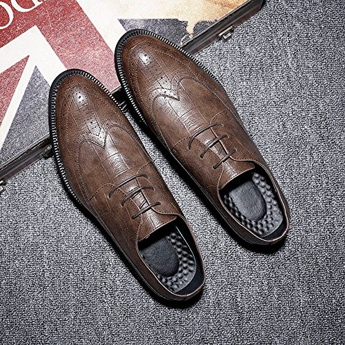 Color classiche Marrone pelle Dimensione PU da EU Scarpe scuro pelle BMD brogue Marrone uomo Scuro Scarpe in di 47 Shoes qOnwxzW7A
