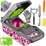 Artcome Vegetable Chopper Slicer Onion Dicer with Colander Basket and Container Food Chopper Onion Cutter with…