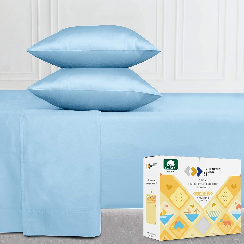 RV Short Queen Sky Blue Sheets for Motorhomes & Camper Beds