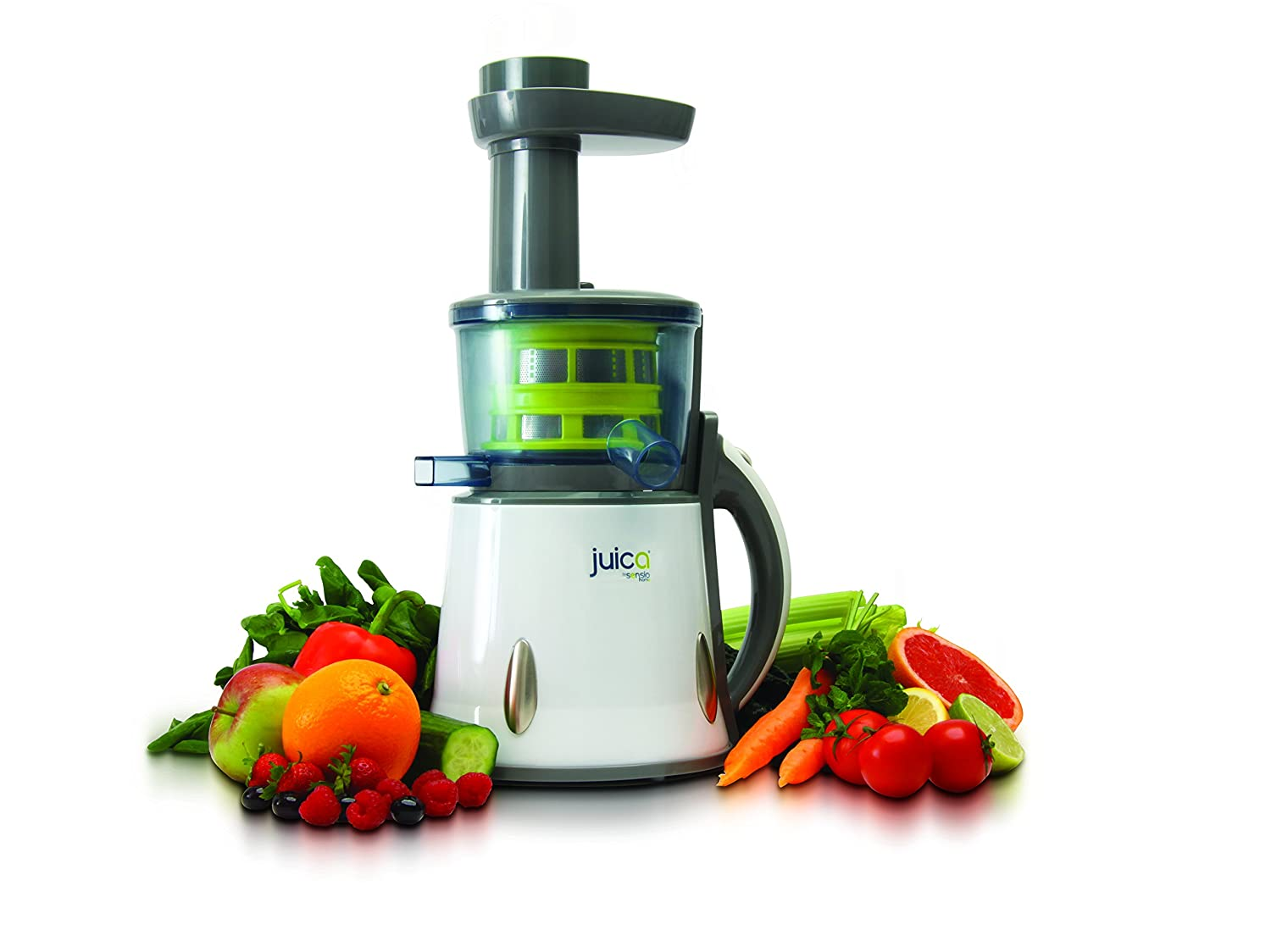 Juica Cold Press Electric Masticating Slow Juicer - Get 40% More Juice From Fruits & Vegetables Like Citrus, Oranges, Wheatgrass, & Nuts MPL Home SHJU001