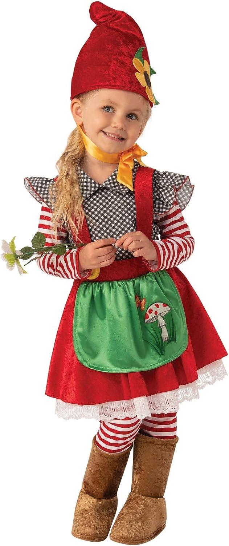 Bristol Novelty Disfraz de niña de gnomo de jardín de tamaño ...