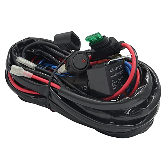 71sDNbMpKsL._SY542_ off road led light bar wiring harness, ampper 14 awg heavy duty  at gsmx.co