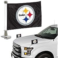 ProMark NFL Pittsburgh Steelers Juego de Banderas de 2 Piezas Estilo embajador, Color del Equipo, Talla única