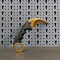 JARL - Réplique Couteau CS:GO IRL Karambit - Counter-Strike: Global Offensive CSGO - Collection, Décoration ou Utilisation Polyvalente - Poignée Confortable en Fibre de Verre - Fourreau de Rangement