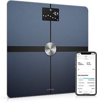 Comprar Withings Body+ Báscula inteligente con conexión Wi-Fi, medición de la grasa corporal, IMC, masa muscular y porcentaje de agua corporal, sincronización con la aplicación móvil Bluetooth o Wi-Fi,Negro