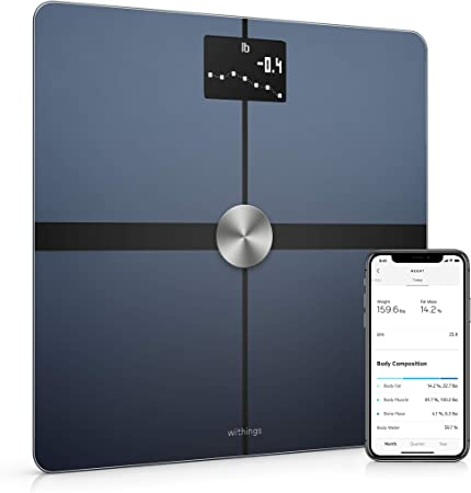 Withings Body+ Báscula inteligente con conexión Wi-Fi, medición de ...