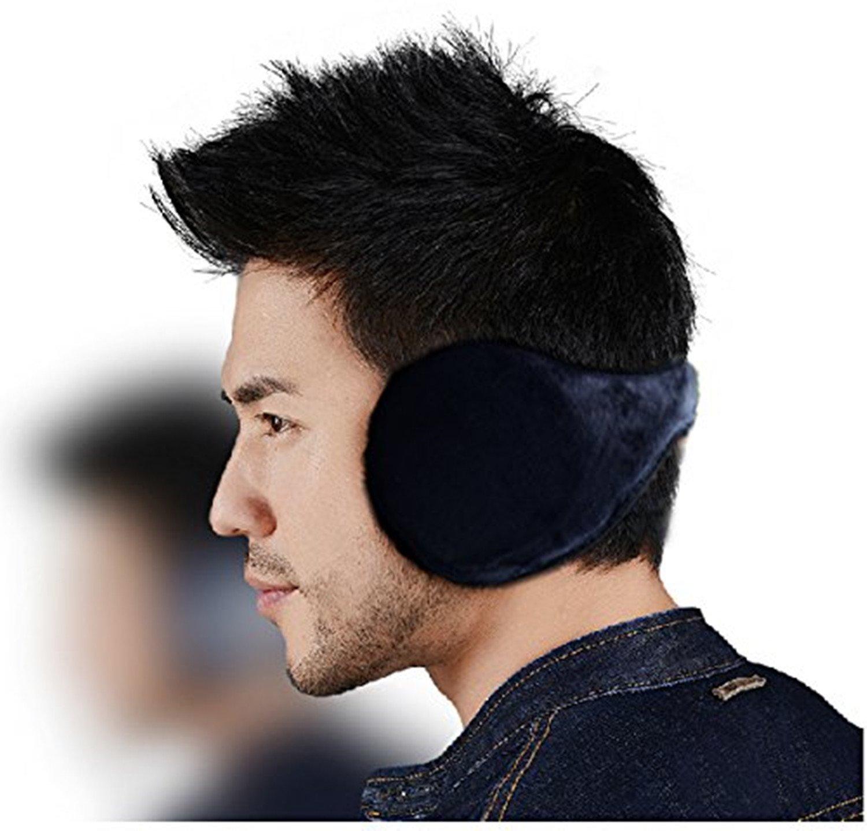 Tinxs ® Navy Herren/Damen, aus weichem Plüsch überzogen Ski-Ohrwärmer, Ohrenschützer/Ohrenwärmer Ohrenschützer Geschenk zum Valentinstag (blau)