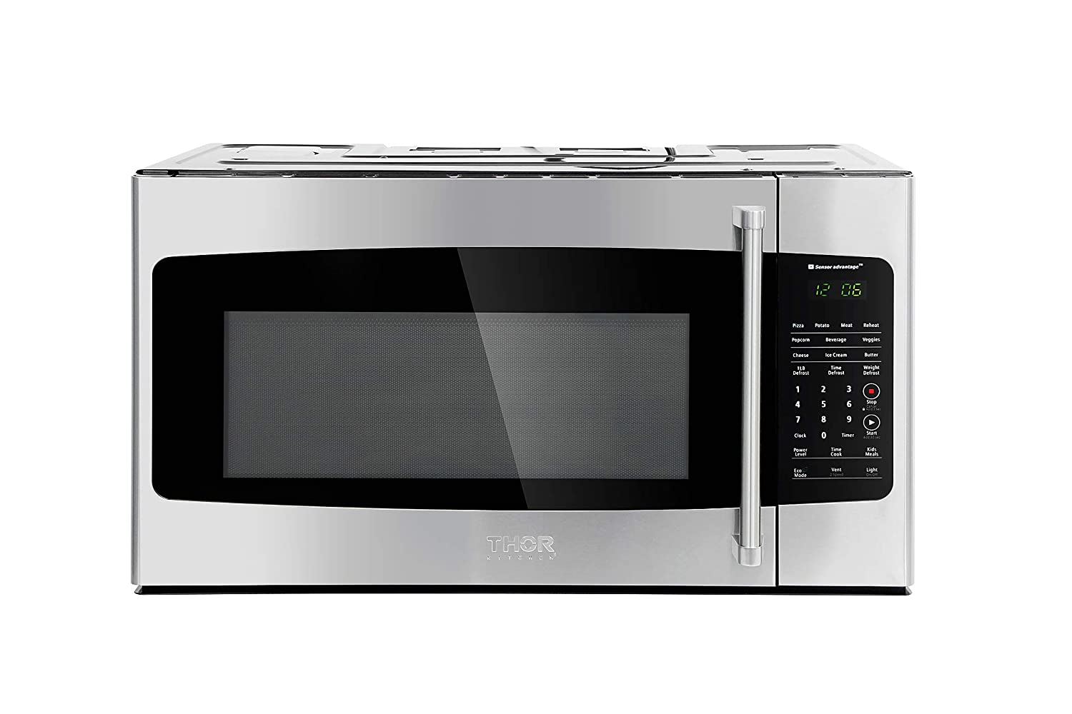 Thor Kitchen — 30in. W 1.7 cu. ft Over the Range Microwave in Stainless Steel with Sensor Cooking OTR