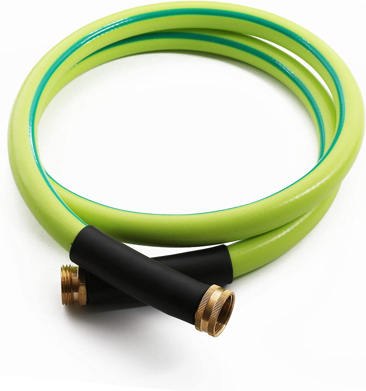 Atlantic Premium Hybrid Garden Hose 5/8 IN x 6 FT, Light Weight and Coils Easily, Kink Resistant,Abrasion Resistant, Extreme All Weather Flexibility (6 FT)