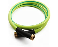 Atlantic Premium Hybrid Garden Hose 5/8 IN. x 8 FT. Working Under -4°F, Light Weight and Coils Easily, Kink Resistant,Abrasio