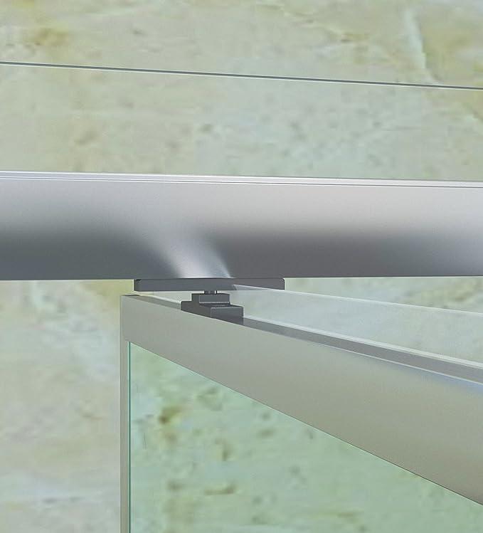 Cabina de ducha en técnicos 90 cm Mampara Puerta oscilante – Puerta de ducha giratoria sin plato de ducha Ducha Ducha Pared Altura 185 cm transparente cristal: Amazon.es: Bricolaje y herramientas