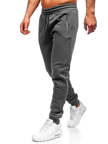 BOLF Hombre Pantalón De Chándal Estampado Pantalón de Algodón ...