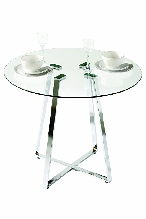 Tavoli Da Pranzo Rotondi In Vetro.Premier Housewares 2401691 Tavolo Da Pranzo In Vetro Rotondo