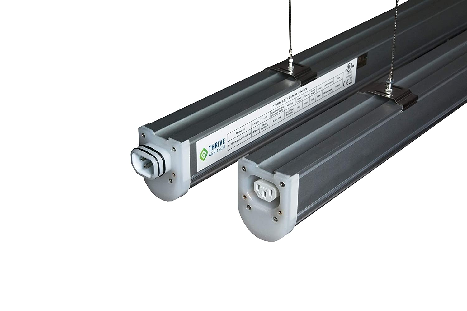 Thrive Agritech Infinity Linear LED Grow Light bar, 58W and Waterproof. Daisy Chain up to 12 fixtures with a Single Plug